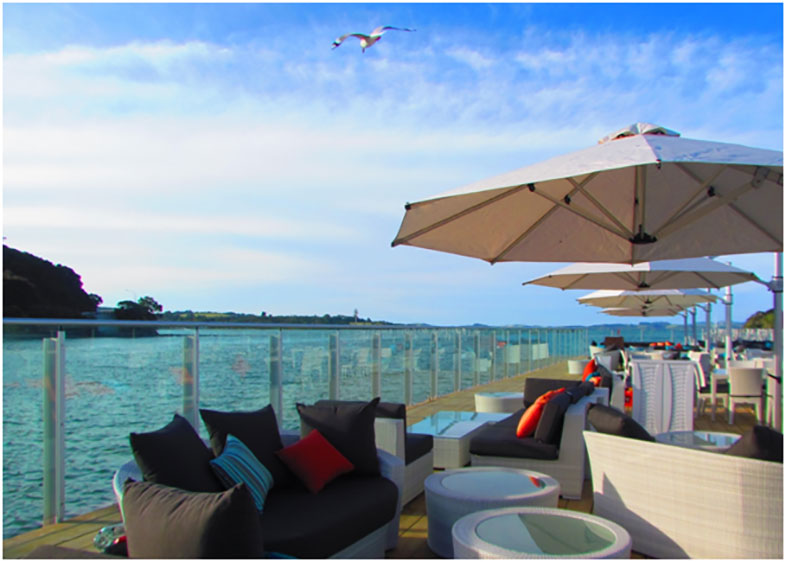 Alongside is an exciting social space situated over the water in the stunning bay of islands