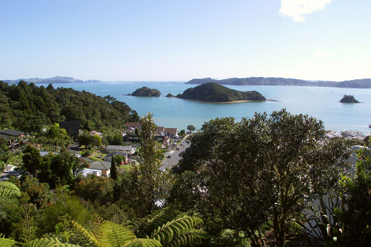 View from the Allegra House - Bay of Islands