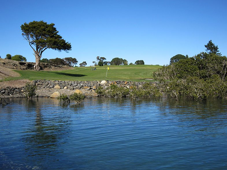 Waitangi Golf Club waters