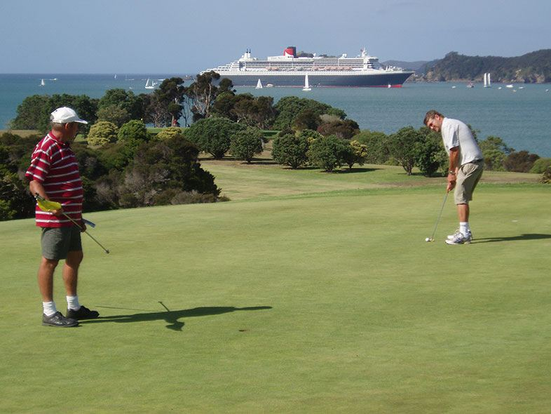 Waitangi Golf Club green