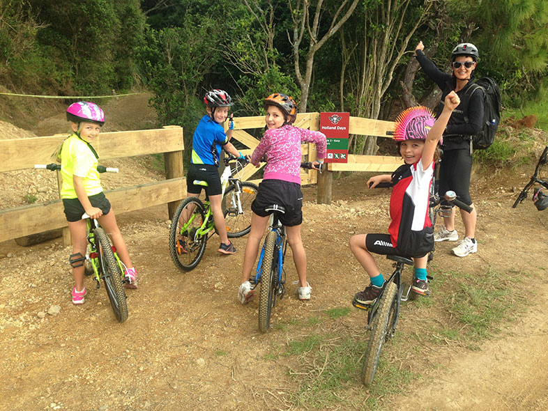 Waitangi Mountain Bike Park Kids group