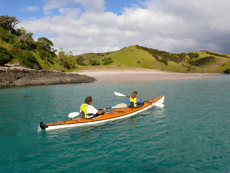 Coastal Kayakers Bay of Islands Blue water