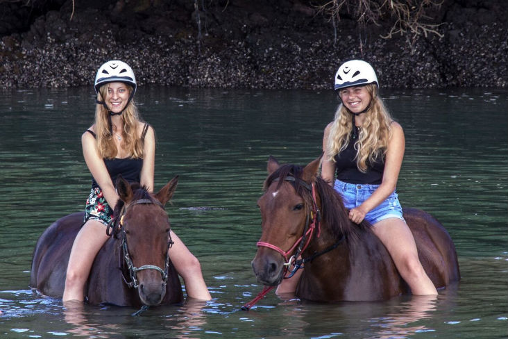 Horse Trekn NZ - Horse Riding in water