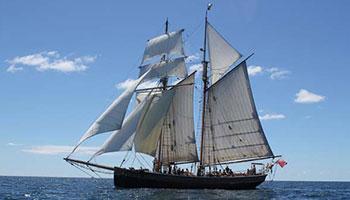 r tucker tall ship, bay of islands