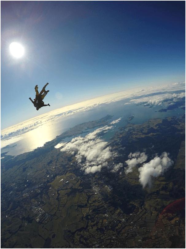 Sky dive in the sun
