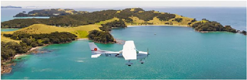 Bay of Islands' coastline view SwanAir scenic flights