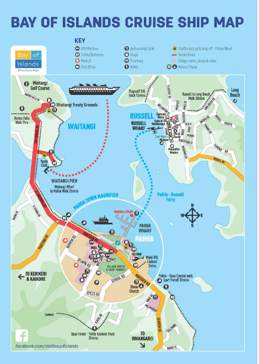 Bay of Islands Cruise Ship Map
