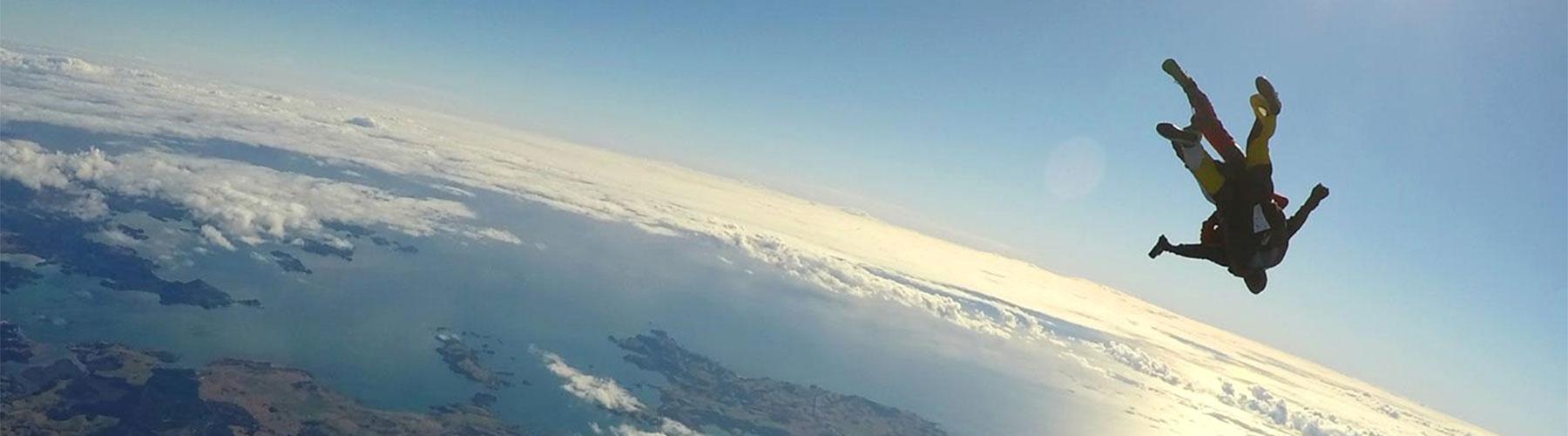 sky-diving Bay of Islands