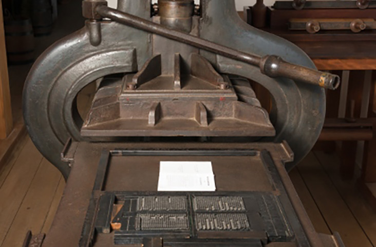 prinitng press, pompallier house, bay of islands