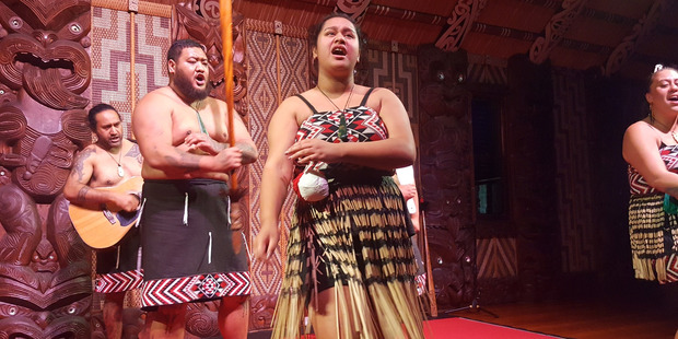 Cultural performance - Waitangi Meeting House