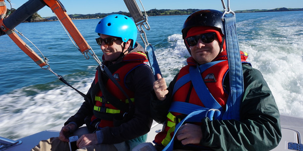 Parasailing team at the Bay of Islands