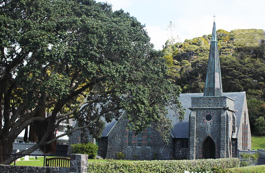 church, bay of islands