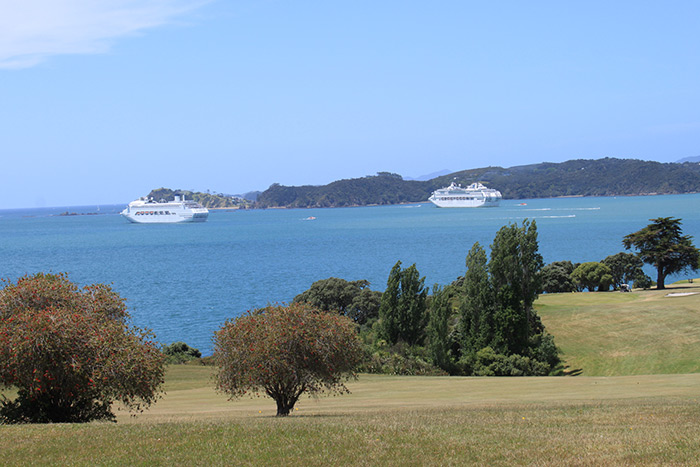 Two Cruise Ships, Bay of Islands