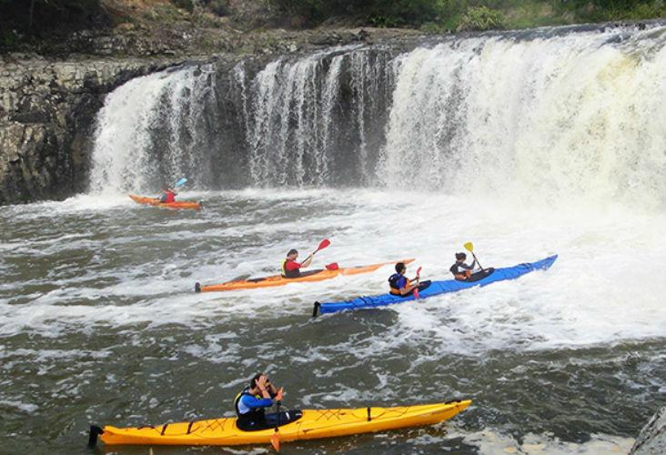 Haruru Falls kayaking
