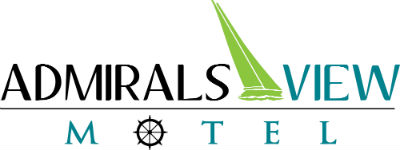 Admirals View Motel Logo With Sail Boat 400px