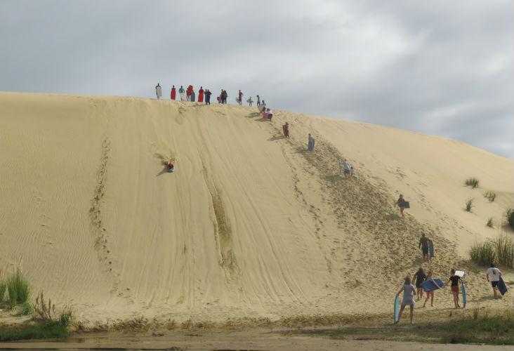 Sandboarding, Cape Reinga
