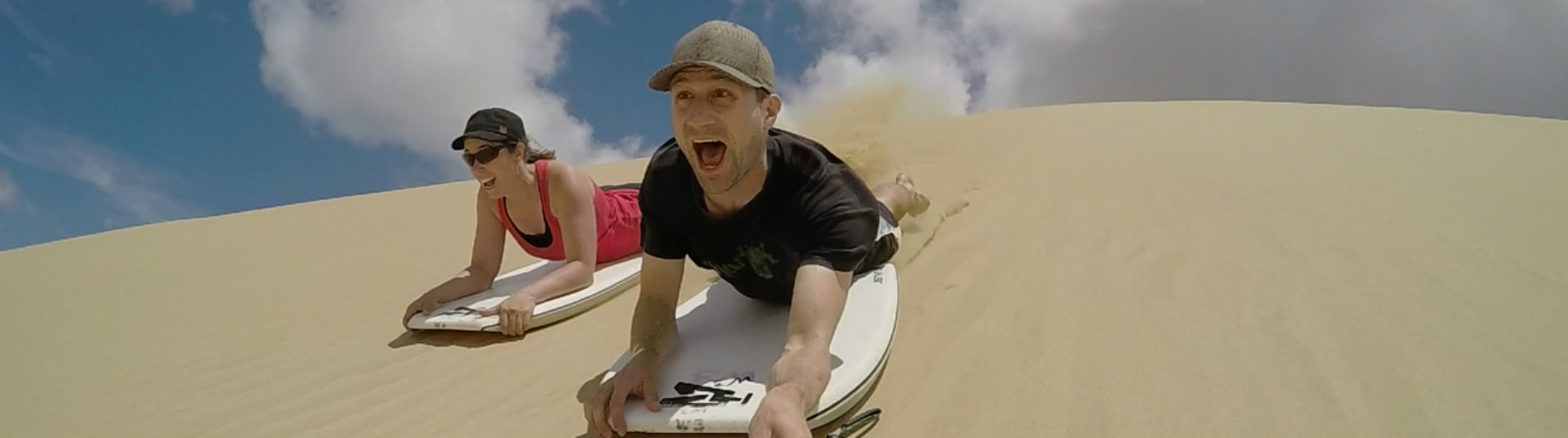 Sandboarding in Cape Reinga, Northland