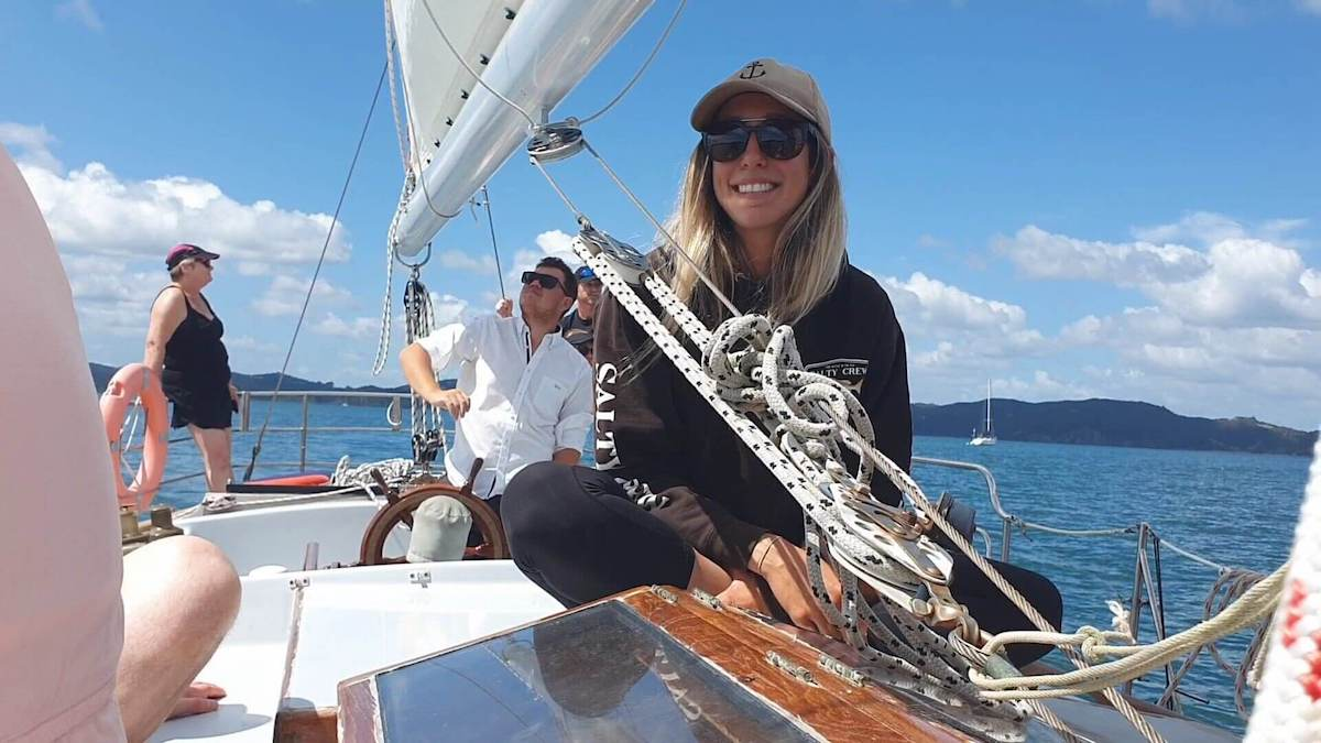 Women on a boat Vigilant Yacht Charters