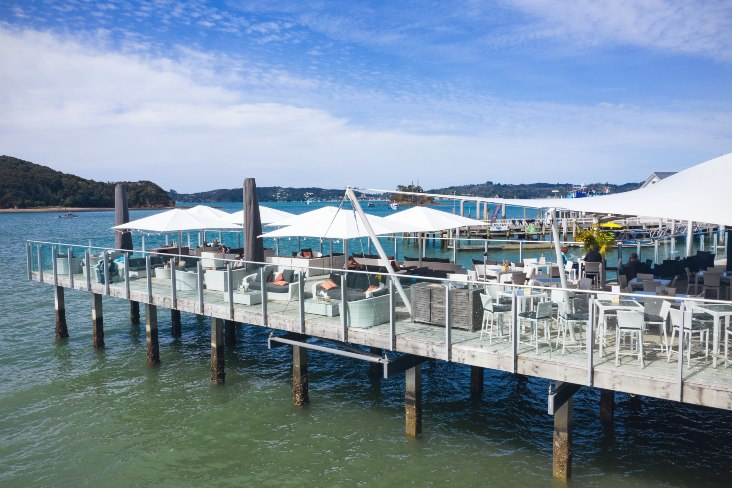 Dock Umbrellas - Zane Grey Restaurant and Bar