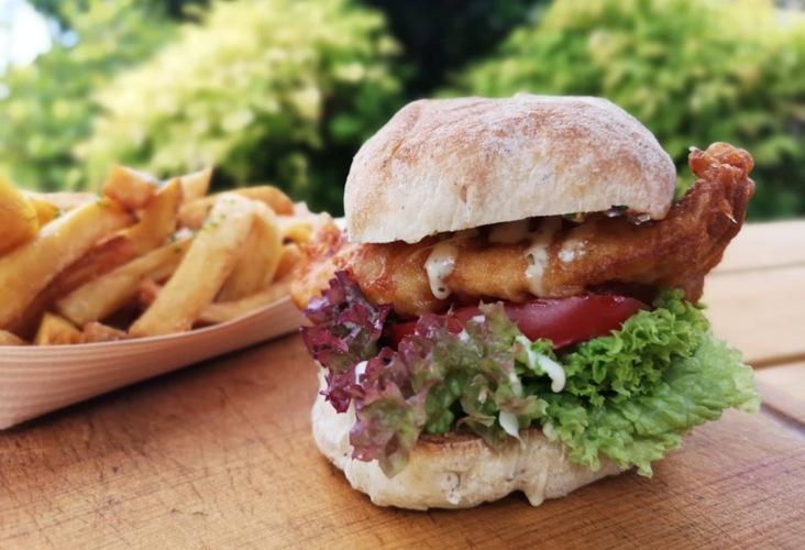 JFC Fish burger and chips - Just Fish and Chips