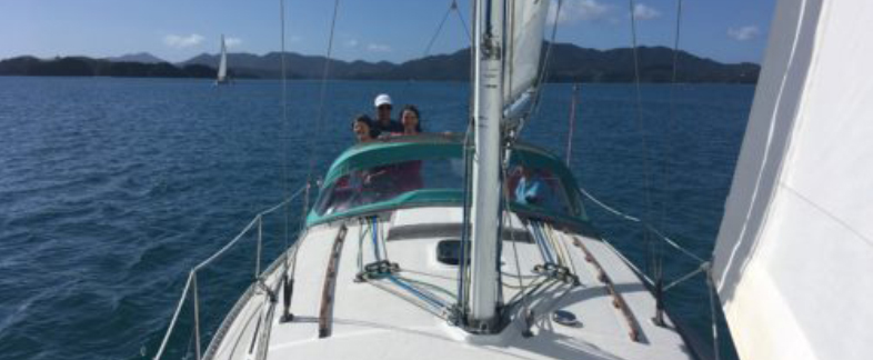 Sailing in Bay of Islands