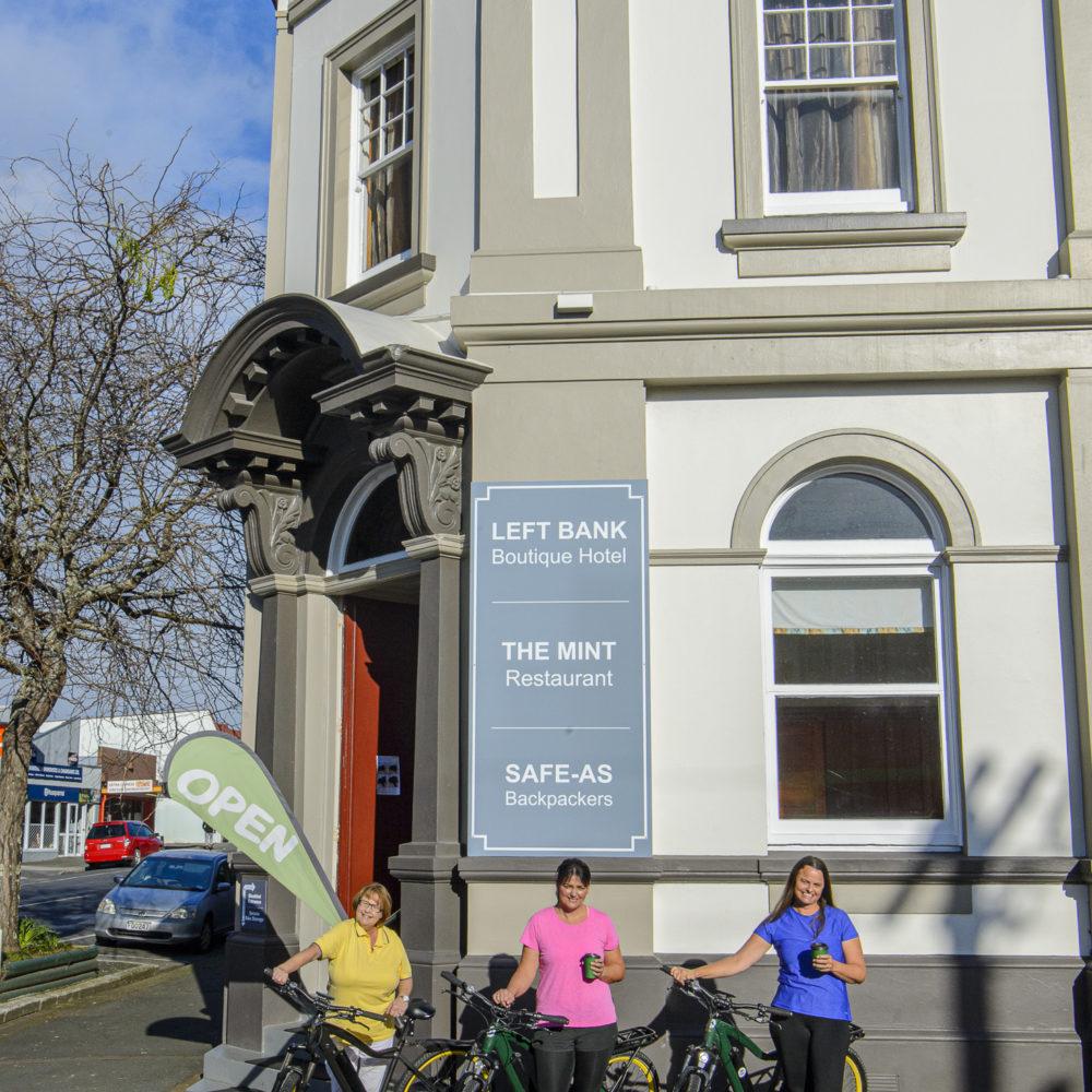 Left Bank and Mint Cafe, Kaikohe biking